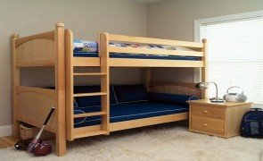 Natural Wood Twin Bunk Beds For Kids