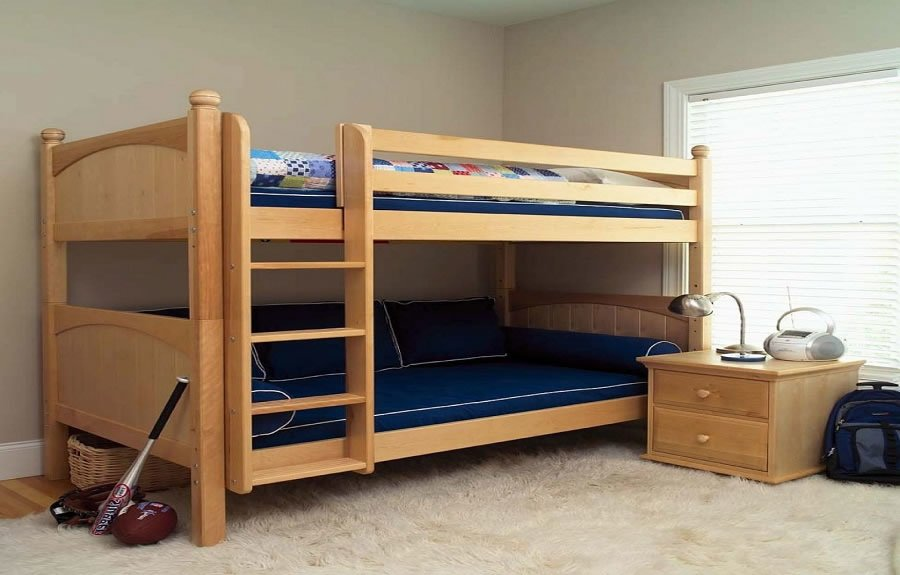 Choosing best bunk beds for your kids wikiperiment natural wood twin bunk beds for kids sisterspd