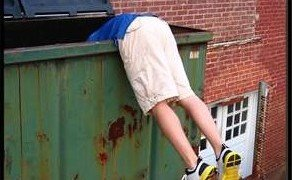 Dumpster diving for identity theft